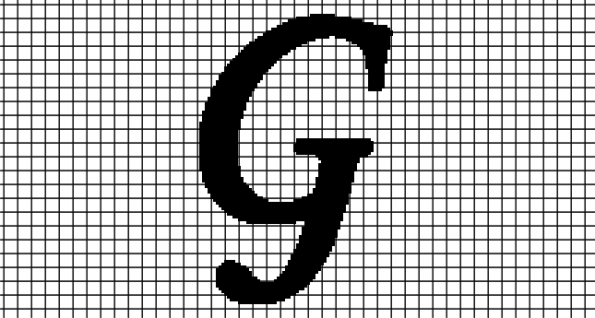 G – Monotype Corsiva (Chart/Graph AND Row-by-Row Written Crochet Instructions)