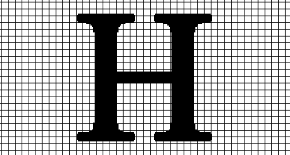 H – Times New Roman (Chart/Graph AND Row-by-Row Written Crochet Instructions)