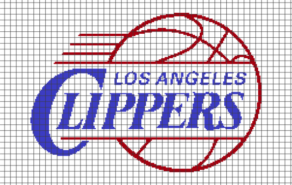 Los Angeles Clippers (Chart/Graph AND Row-by-Row Written Crochet Instructions) – 02