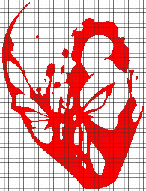 Marvels Deadpool Chartgraph And Row By Row Written Crochet
