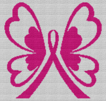 Breast Cancer Ribbon and Butterfly