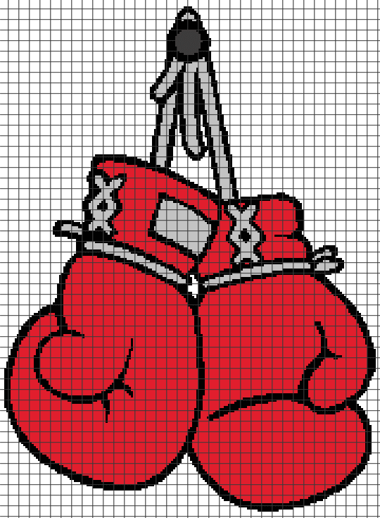 Boxing Gloves (Chart/Graph AND Row-by-Row Written Crochet Instructions) - 01 ...