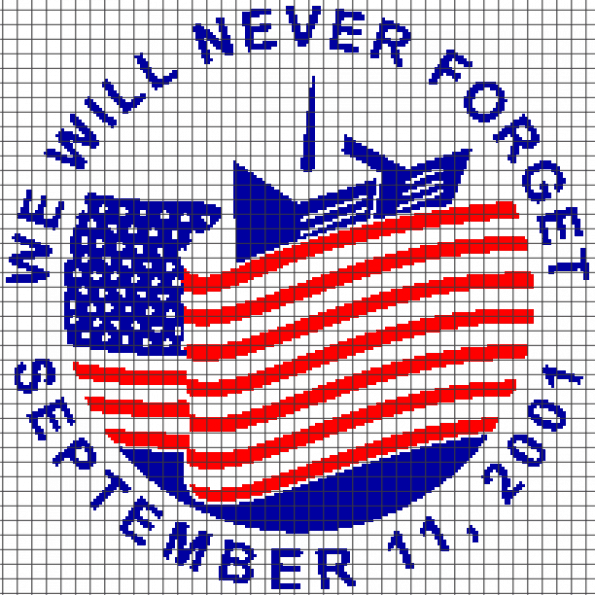 9/11 – We Will Never Forget (Graph AND Row-by-Row Written Crochet Instructions) – 02