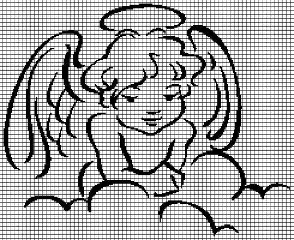 Angel in the Clouds (Graph AND Row-by-Row Written Crochet Instructions) – 04