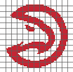 Atlanta Hawks PILLOW (Graph AND Row-by-Row Written Crochet Instructions) – 01