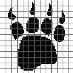Bear Paw Print PILLOW (Graph AND Row-by-Row Written Crochet Instructions) – 03