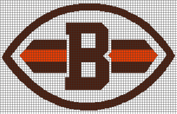 Cleveland Browns (Graph AND Row-by-Row Written Crochet Instructions) – 02