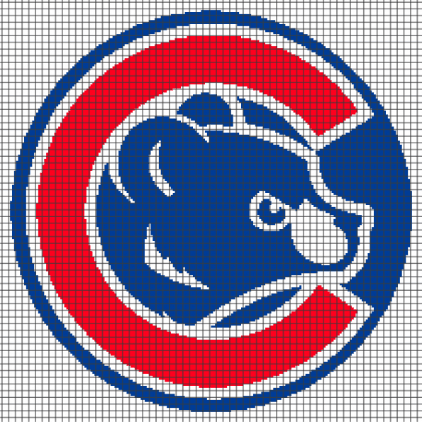 Chicago Cubs (Graph AND Row-by-Row Written Crochet Instructions) – 04