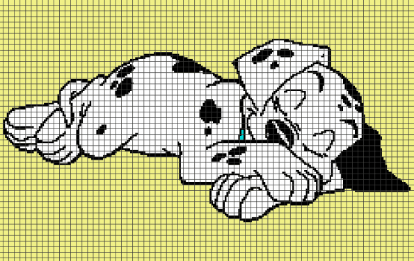 101 Dalmatians Puppy (Graph AND Row-by-Row Written Crochet Instructions) – 03