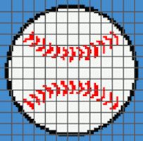 Baseball PILLOW (Graph AND Row-by-Row Written Crochet Instructions) – 01