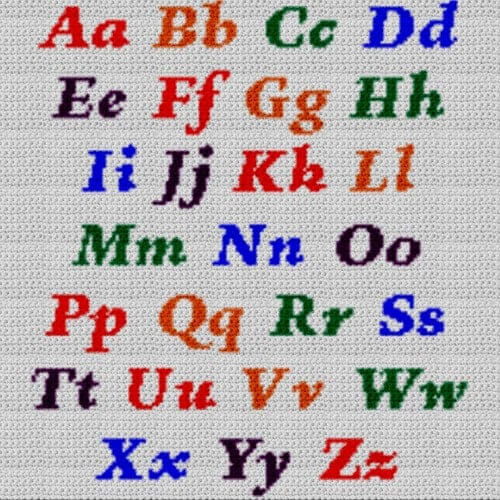 Alphabet Blanket (Graph AND Row-by-Row Written Crochet Instructions) – 01