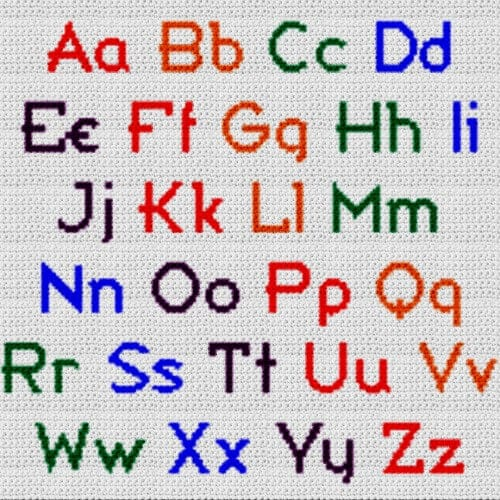 Alphabet Blanket (Graph AND Row-by-Row Written Crochet Instructions) – 03