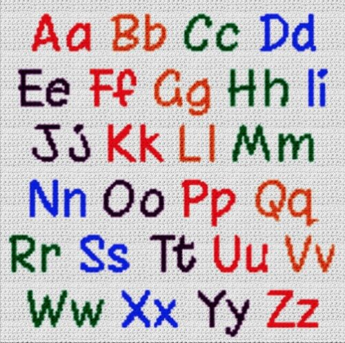 Alphabet Blanket (Graph AND Row-by-Row Written Crochet Instructions) – 05