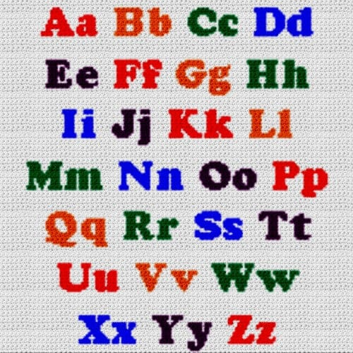 Alphabet Blanket (Graph AND Row-by-Row Written Crochet Instructions) – 07