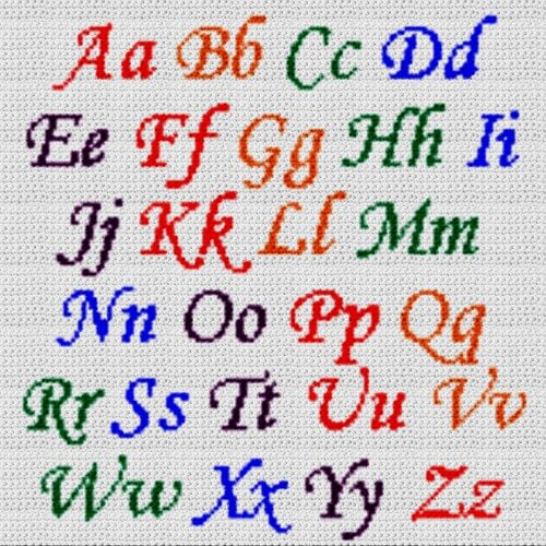 Alphabet Blanket (Graph AND Row-by-Row Written Crochet Instructions) – 08