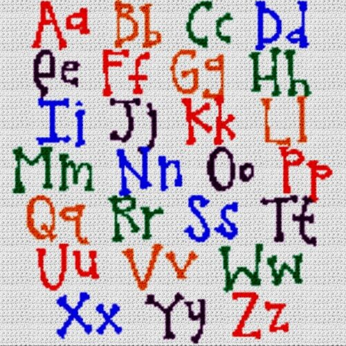 Alphabet Blanket (Graph AND Row-by-Row Written Crochet Instructions) – 11