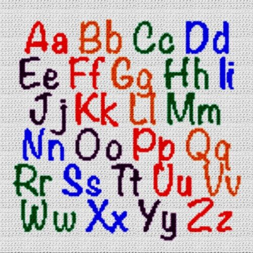 Alphabet Blanket (Graph AND Row-by-Row Written Crochet Instructions) – 13