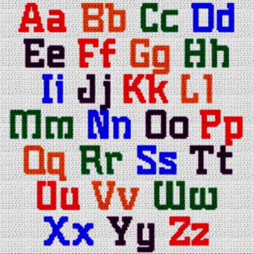 Alphabet Blanket (Graph AND Row-by-Row Written Crochet Instructions) – 14
