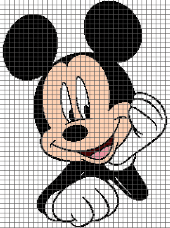 Mickey Mouse - (Chart/Graph AND Row-by-Row Written Instructions) - 02