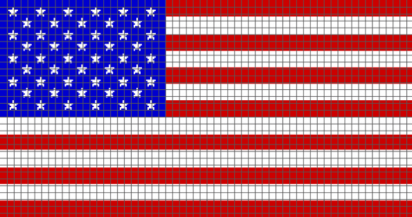 American Flag- (Graph AND Row-by-Row Written Crochet Instructions) – 04