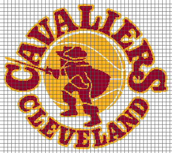 Cleveland Cavaliers Old Logo - (Graph AND Row-by-Row Written Crochet Instructions) - 04
