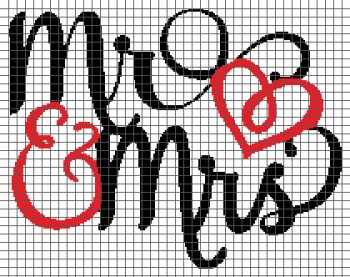 Mr. & Mrs. - (Graph AND Row-by-Row Written Crochet Instructions) - 12