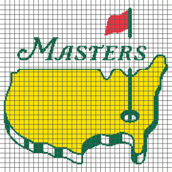 The Masters Golf Tournament - (Graph AND Row-by-Row Written Crochet Instructions) - 02