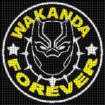 Black Panther - Wakanda Forever - (Graph AND Row-by-Row Written Crochet Instructions) - 04