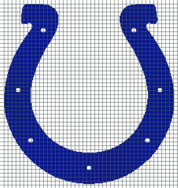Indianapolis Colts- (Graph AND Row-by-Row Written Crochet Instructions) - 02
