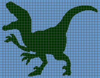Dinosaur (Velociraptor) - (Graph AND Row-by-Row Written Crochet Instructions) - 01