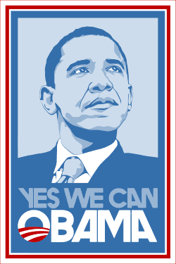 "Barack Obama ""Yes We Can"" – (Chart/Graph AND Row-by-Row Written Instructions) – 04"