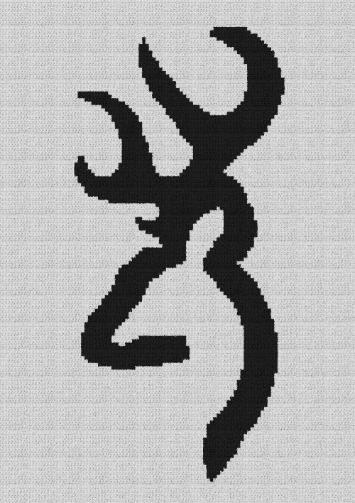 Browning Buck - Single Crochet Written Graphghan Pattern - 01 (96x140)