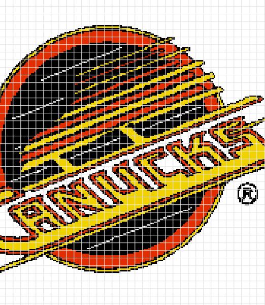 Vancouver Canucks Crochet Graphghan Pattern