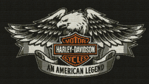 Harley Davidson, An American Legend - Single Crochet Written Graphghan Pattern - 03 (250x141)