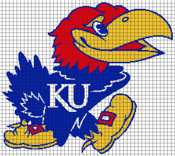 University of Kansas Jayhawks (Chart/Graph AND Row-by-Row Written Instructions)