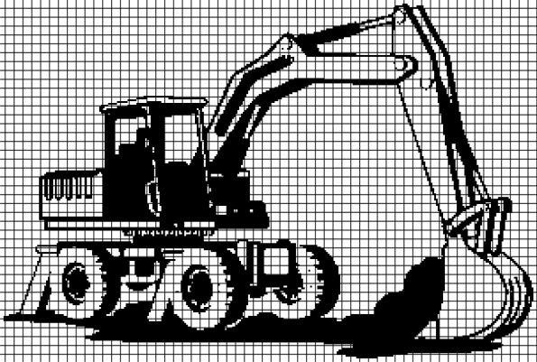 Bulldozer (Chart/Graph AND Row-by-Row Written Instructions) – 01