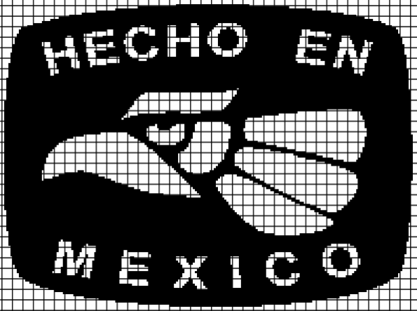 Hecho En Mexico (Chart/Graph AND Row-by-Row Written Instructions) – 01
