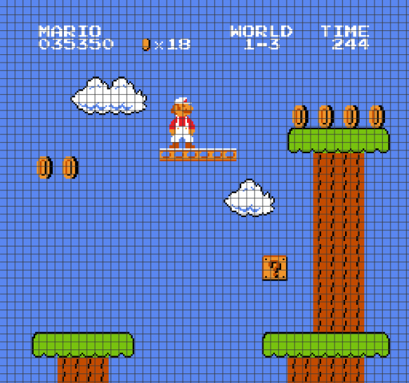 Super Mario (Chart/Graph AND Row-by-Row Written Instructions) – 01