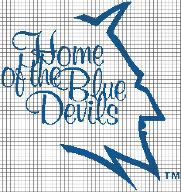 Duke – Home of the Blue Devils (Chart/Graph AND Row-by-Row Written Instructions) – 02