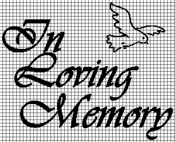In Loving Memory (Chart/Graph AND Row-by-Row Written Crochet Instructions) – 01