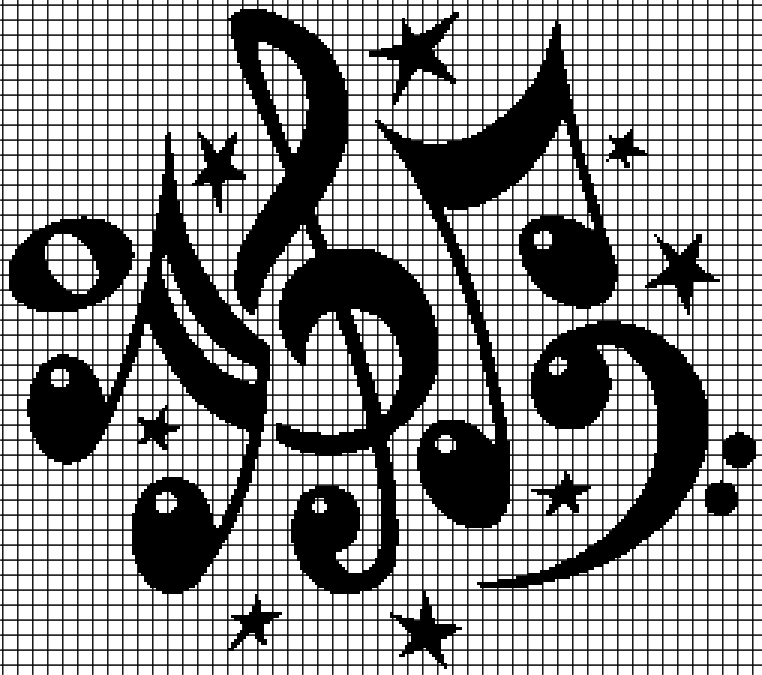 Music Notes Chartgraph And Row By Row Written Crochet Instructions