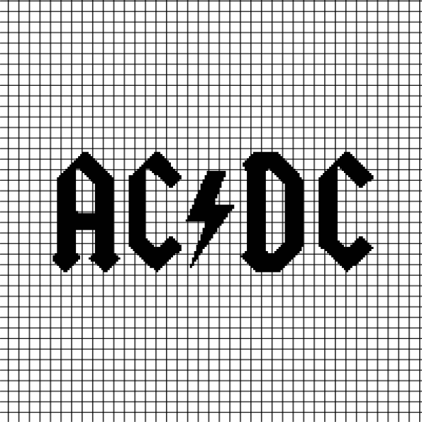 AC/DC (Chart/Graph AND Row-by-Row Written Crochet Instructions) – 01