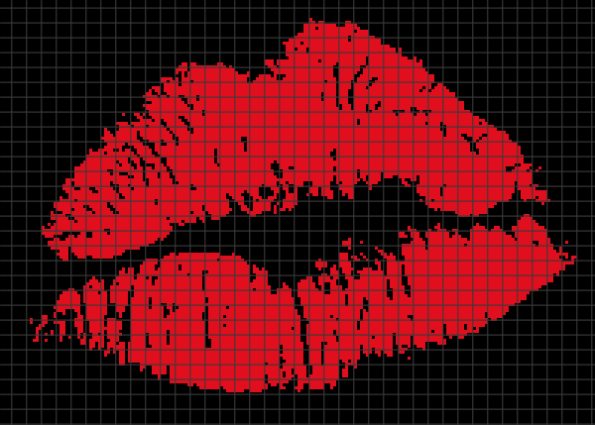 Red Lips (Chart/Graph AND Row-by-Row Written Crochet Instructions) – 03