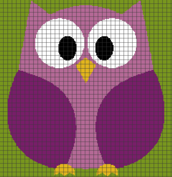 Cute Owl (Chart/Graph AND Row-by-Row Written Crochet Instructions) – 01