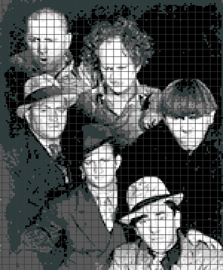 Three Stooges (Chart/Graph AND Row-by-Row Written Crochet Instructions) – 01