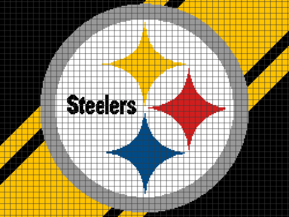 Pittsburgh Steelers (Chart/Graph AND Row-by-Row Written Crochet Instructions) – 02