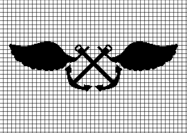 Aviation Boatswain's Mate (Chart/Graph AND Row-by-Row Written Crochet Instructions) – 01