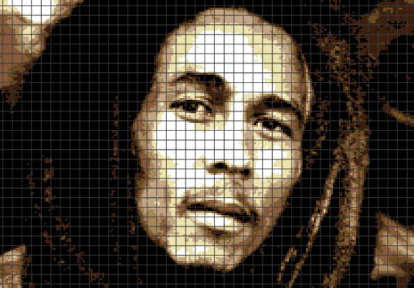 Bob Marley (Chart/Graph AND Row-by-Row Written Crochet Instructions) – 06