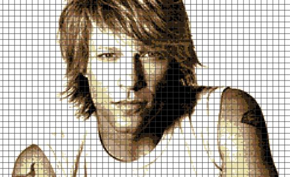 Jon Bon Jovi (Chart/Graph AND Row-by-Row Written Crochet Instructions) – 02