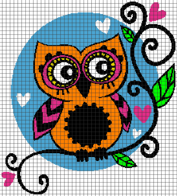 Cute Owl (Chart/Graph AND Row-by-Row Written Crochet Instructions) – 02